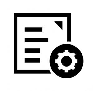 Een icoon dat het aanpassen van de webshop verbeeld