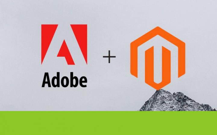Logo's van Adobe en Magento