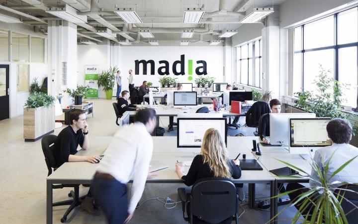 het kantoor van madia