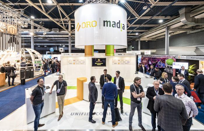 Een foto van de stand van Madia op de webwinkel vakdagen 2019