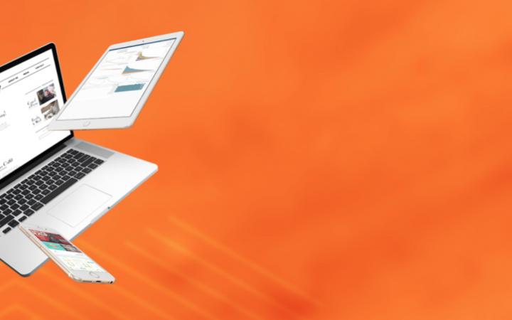 Een afbeelding van een laptop met Magento 2.3.1 en de Adobe Commerce Cloud