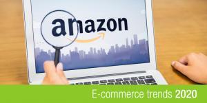 banner e-commerce trends 2020 met amazon logo