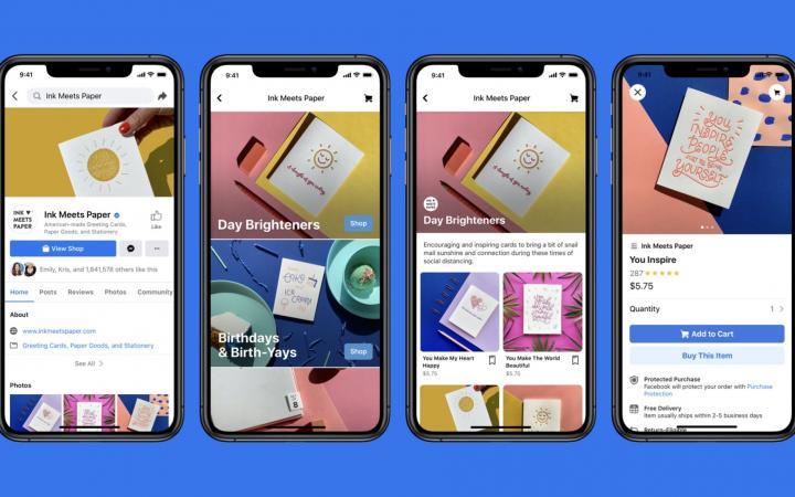 facebook shops mock ups