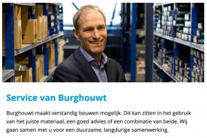 Service van Burghouwt met persoon omde conversie in de webshop te verhogen