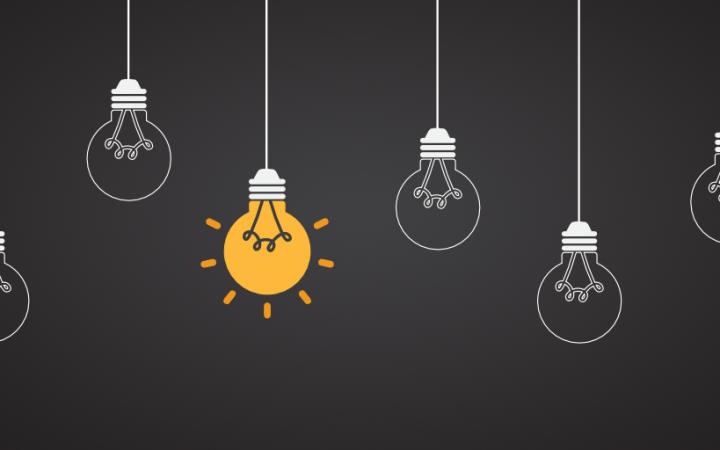 early adopter e-commerce banner met verschillende lampjes waarvan er 1 brand.
