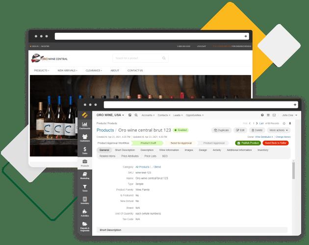 Een screenshot van OroMarketplace