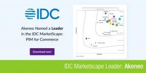 IDC Marketscape Banner voor Akeneo